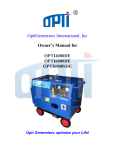Opti Generators Diesel generator users manual_pdg