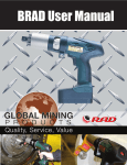 BRAD User Manual - Global Mining Products
