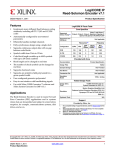 Xilinx DS251, LogiCORE IP Reed-Solomon Encoder v7.1 Data Sheet