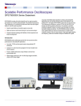 DPO70000SX Scalable Performance Oscilloscope