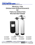 Manual for Operation & Maintenance Of Twin Alternating Water