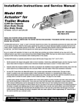 Model 850 Actuator Installation Instructions and Service Manual
