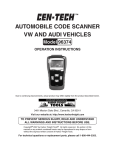 Automobile code scAnner VW And Audi Vehicles
