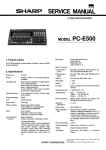 Sharp PC-E500 Service Manual - PC