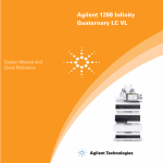 Agilent 1260 Infinity Quaternary LC VL System Manual