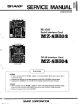 SHARP SERVICE MANUAL - The Sharp MZ