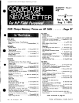 GSD Chops Memory Prices on HP 3000 Vol. 4, No. 18 Aug. 1, 1979