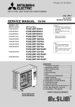 SERVICE MANUAL - Aire Acondicionado Mitsubishi Electric