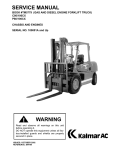SERVICE MANUAL WARNING