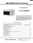 SERVICE MANUAL - Appliance Factory Parts