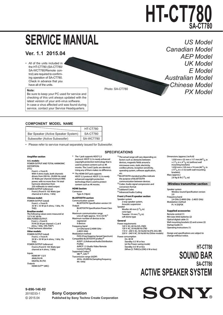 htct780 service manual