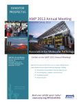 Exhibitor Prospectus - AMP 2013 Annual Meeting