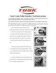 Tusk Crank Puller/Installer Tool Instructions