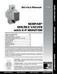 Serpar Double Valves with E-p Monitor