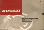 1996 Ducati 900SS owner`s manual