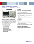 MSO/DPO2000B Series Mixed Signal Oscilloscopes Datasheet