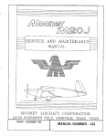 SERVICE AND MAINTENANCE-- MANUAL M00NEY AIRCRAFT