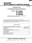 SUPPLEMENTAL SERVICE MANUAL R-330AK R