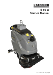 B 80 W Service Manual - RefurbFloorCare | Used commercial floor