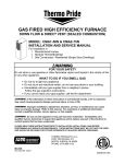 GAS FIRED HIGH EFFICIENCY FURNACE