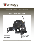 operator`s and parts manual rs18 & rs24 rock saw