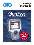 Genisys User Guide - Genisys Electronic Diagnostic Scan Tools for