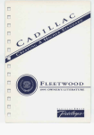 1995 cadillac fleetwood owner`s manual