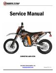 Manual for KTM-2010 - Christini Technologies, Inc.