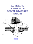 Louisiana Commercial Driver`s License Manual