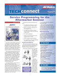Service Programming For The Aftermarket Seminar