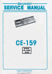 Sharp CE-159 Service manual - PC