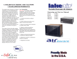 Portable Electronic air cleaners Operating and Service Manual