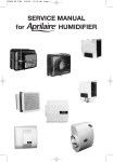 SERVICE MANUAL for HUMIDIFIER
