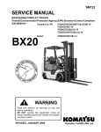 warning service manual - Komatsu Forklift USA, Inc. v3.1