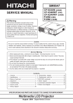 Multimedia LCD Projector SM0547 SERVICE MANUAL