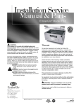 Installation Service Manual & Parts