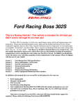 Boss 302S Owners Manual
