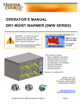 DMW English Operator`s Manual - Dry Moist Warmer by Meister