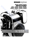 Single Cylinder Engine SERVICE MANUAL K9J, KJ4J, KJ6J, KJSJ