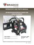 operator`s and parts manual hp400/hp450/hp600/hp750/hp1000