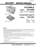 SERVICE MANUAL FACSIMILE FO-4450 FO-CS1