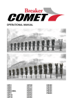 OPERATIONAL MANUAL - Comet Breaker:World`s Most Powerful