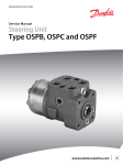 OSPB/OSPC/OSPF Steering Units Service Manual