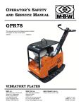 OPERATOR`S SAFETY AND SERVICE MANUAL