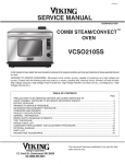 VCSO210SS steam oven service manual