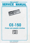 Sharp CE-150 Service manual - Printer and Cassette - PC