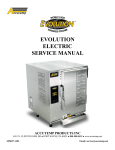 EVOLUTION ELECTRIC SERVICE MANUAL