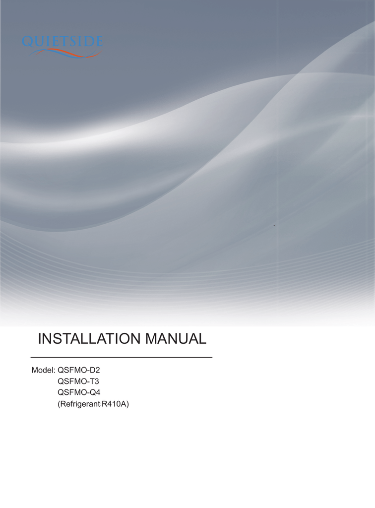 quietside-2nd Free match units service manual COVER PAGE