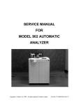 SERVICE MANUAL FOR MODEL 902 AUTOMATIC ANALYZER