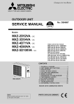 SERVICE MANUAL - Mitsubishi Electric Australia